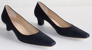 Bruno Magli Navy Textured Calf Grainy Nanico Pointed Toe 4a Blue Pumps