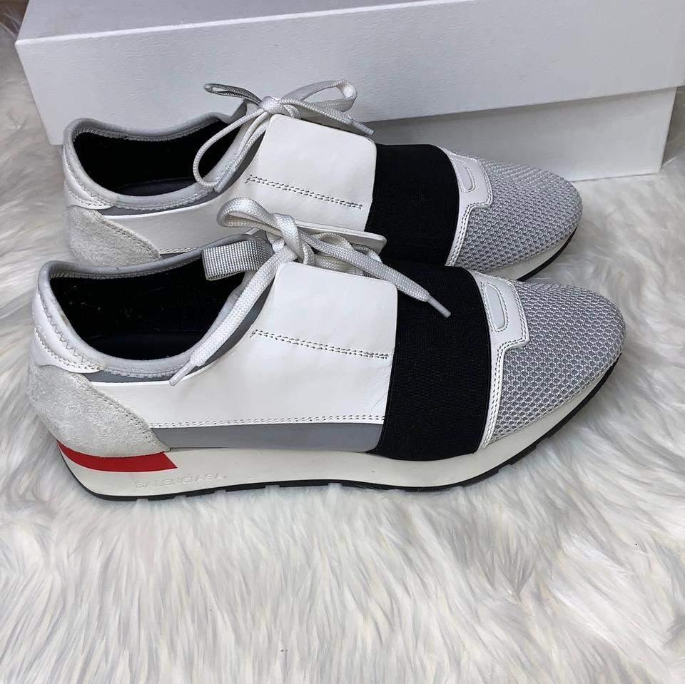 9cc9cf27a40 Balenciaga White/Black/ Women Race Runners Sneakers Size US 9 Regular (M,  B) 24% off retail