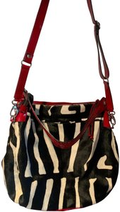 Cavalcanti Calf Fur Zebra Tote Hobo Shoulder Bag