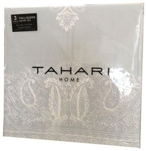 Tahari TAHARI HOME 3pc QUEEN DUVET SET EMBROIDERED Mint GREEN