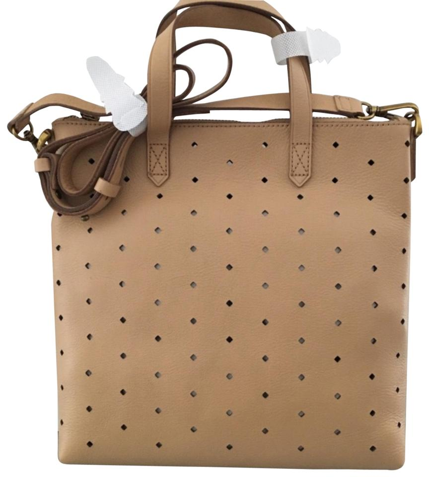 Madewell Transport Perforated Linen Leather Cross Body Bag 57 Off Retail