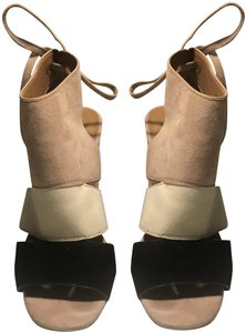 Coach Black/ Beige/ Nude Sandals