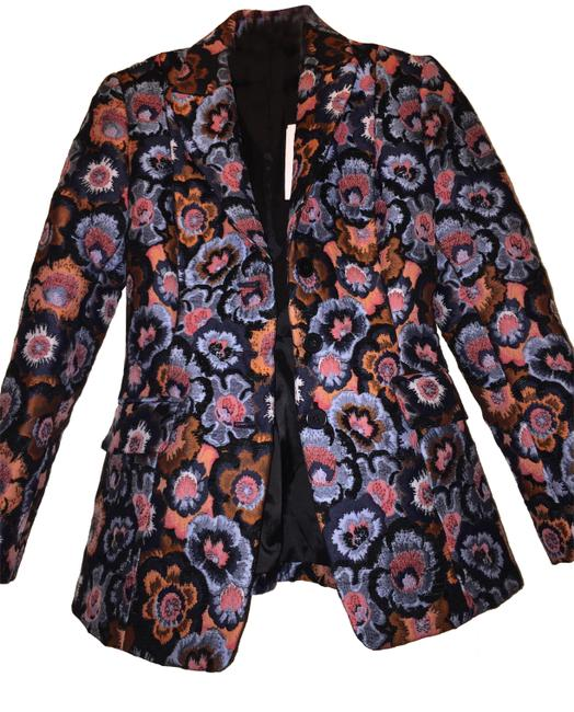 Item - Multi/Floral Jacquard Riding Jacket Blazer Size 0 (XS)