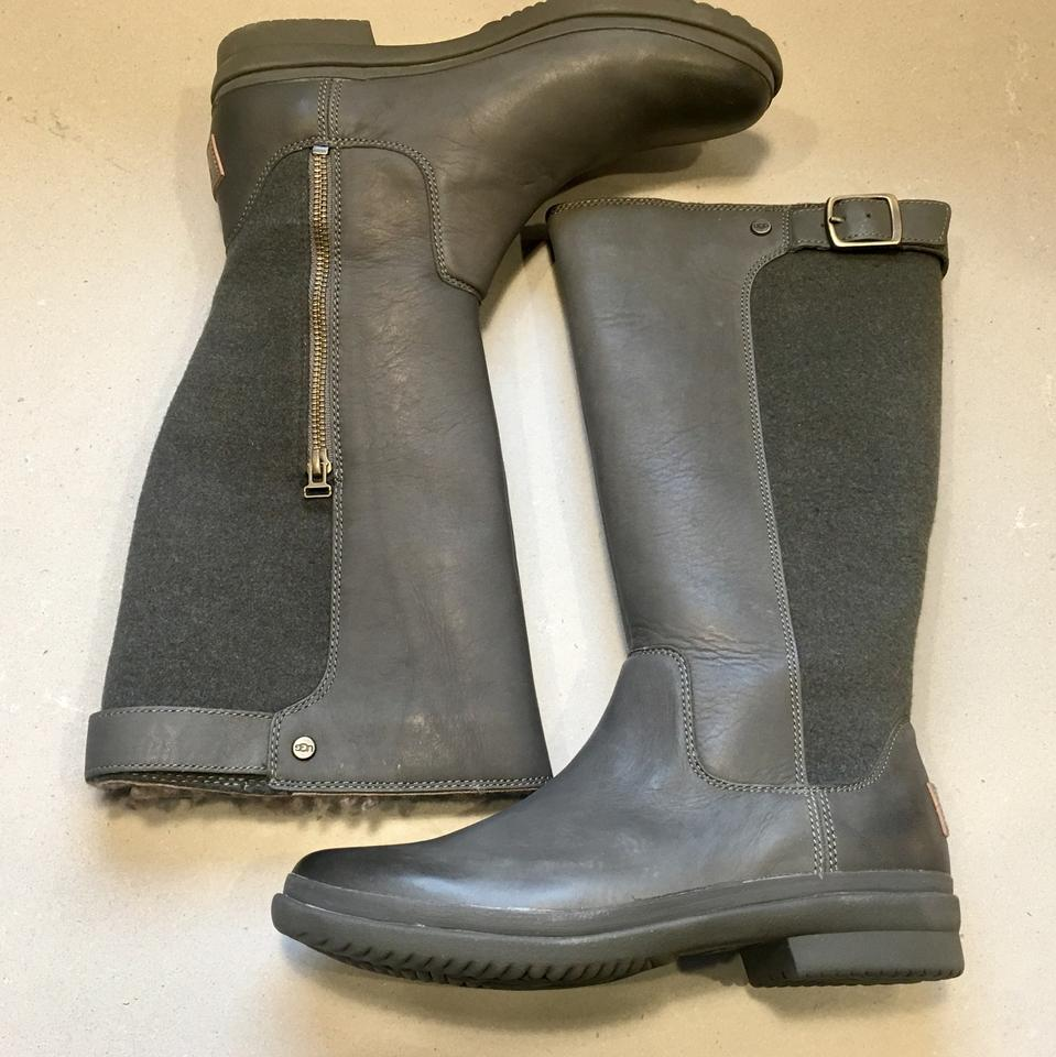 cf80f4bb63e UGG Australia Slate Janina Leather Textile Waterproof Rain Boots/Booties  Size US 8 Regular (M, B) 23% off retail