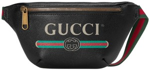 Gucci Vintage Print Small Leather Size 90 Belt