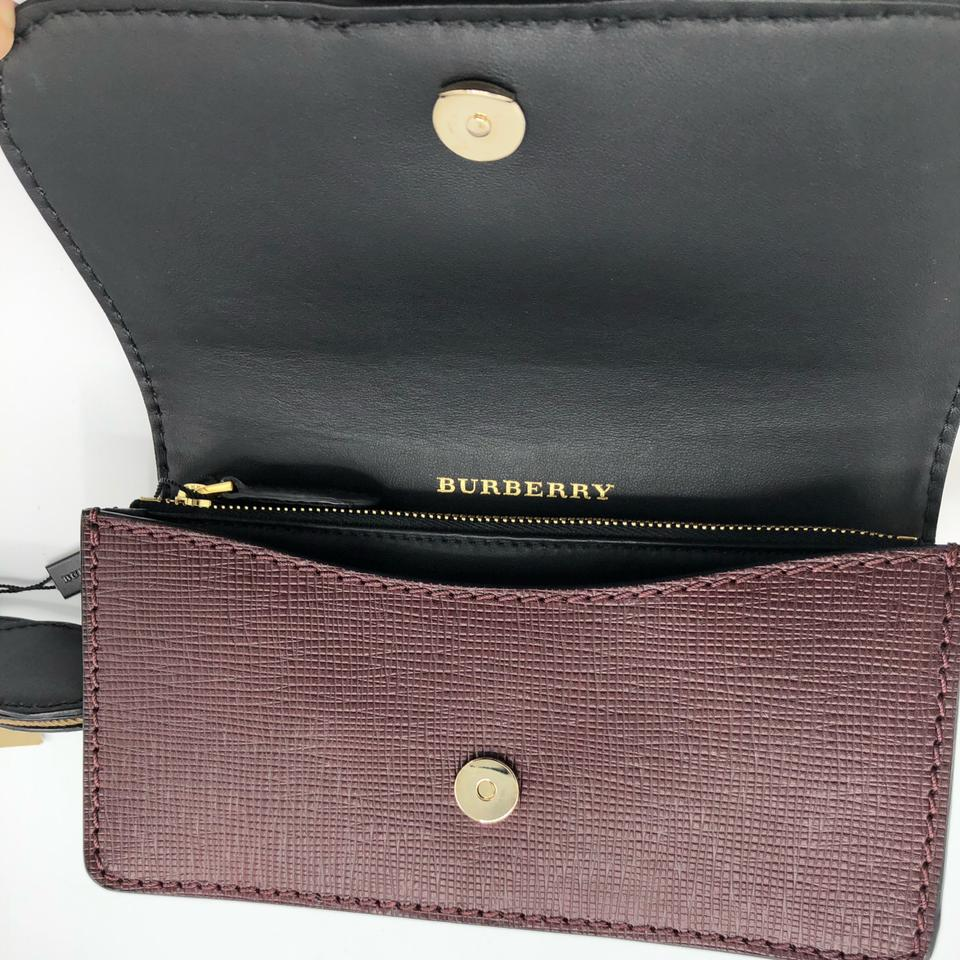 285600949f55 Burberry London Bridle Small Belt Shoulder Burgundy Embossed Leather Cross  Body Bag - Tradesy