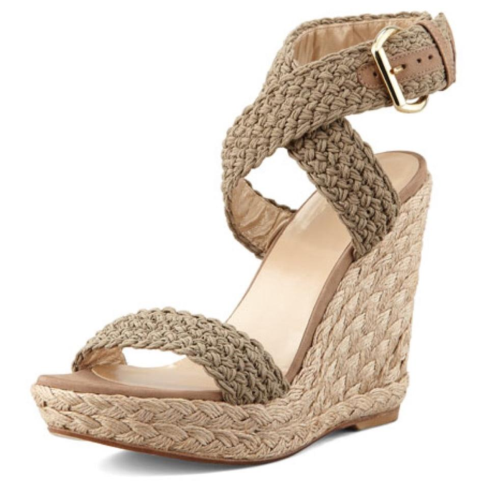 4cf30a79ba1 Stuart Weitzman Olive Alex Crochet Wedge Sandals Size US 5.5 Regular ...