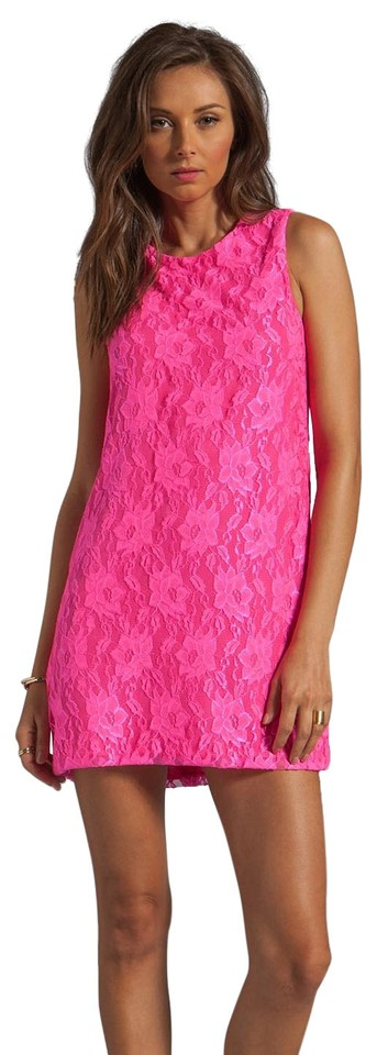Naven Neon Pink Collection Twiggy Short Cocktail Dress Size 4 S 68 Off Retail