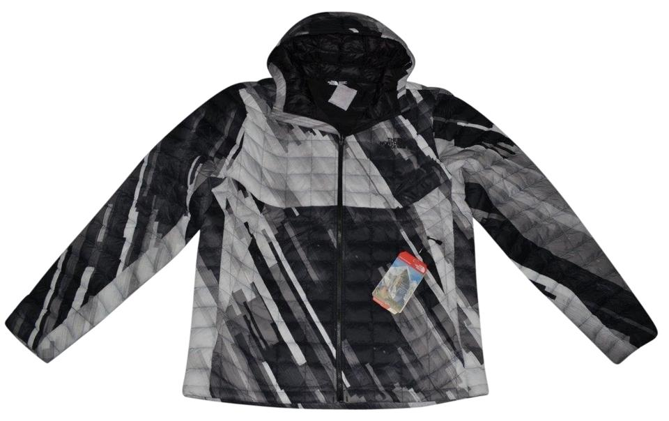 The North Face Black White Men s Thermoball Hoodie Gray Jacket Size 16 (XL c6e1e087c