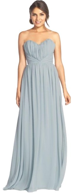 Item - Silver (Grey) Strapless Sweet Heart Chiffon A-line Gown Long Formal Dress Size 10 (M)