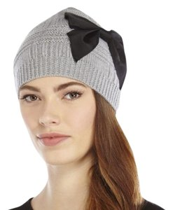 Kate Spade plaid beanie with grosgrain bow KS1000039C