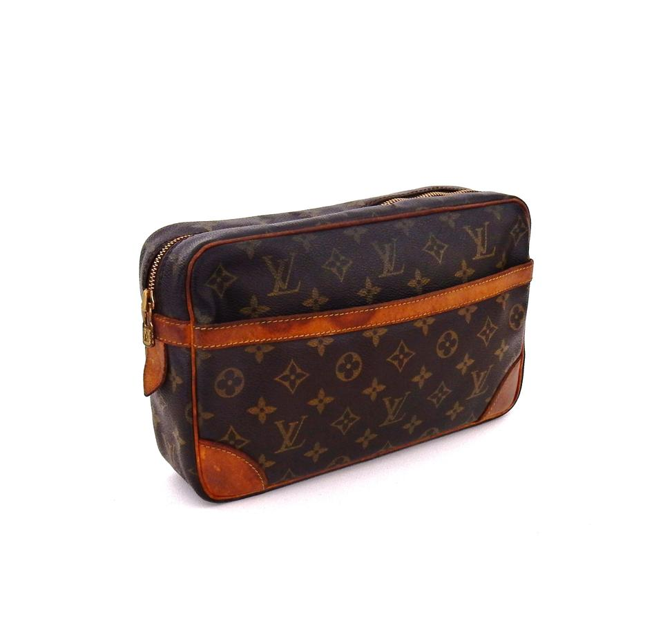 Louis Vuitton Vintage Compiegne 28 Monogram Canvas Leather Makeup Travel  Dopp Bag. 1234567891011 d532964e423d5