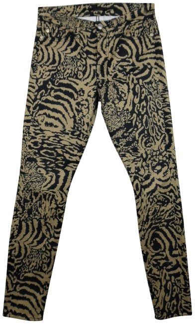 Item - Black Tan Tiger Print Ankle Stretchy Mid-rise Skinny Jeans Size 26 (2, XS)