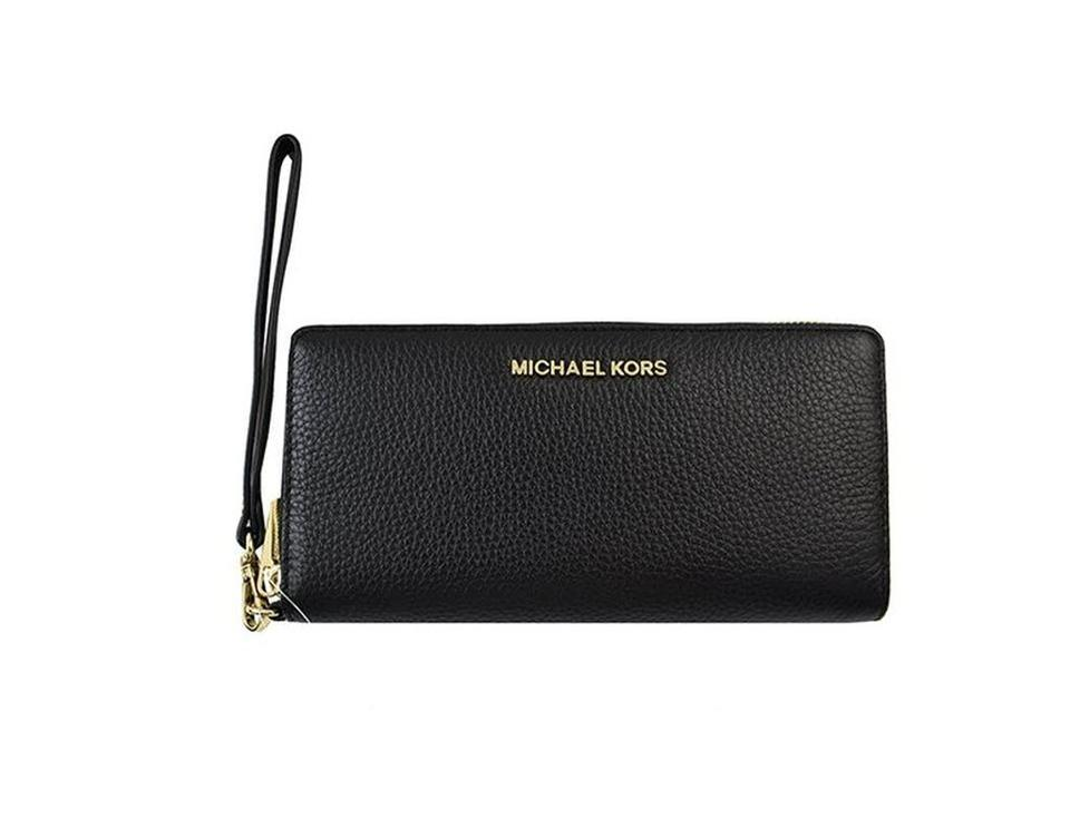 40b9b4aa370f Michael Kors Michael Kors Jet Set Travel Leather Continental Wristlet Wallet  NWT Image 0 ...
