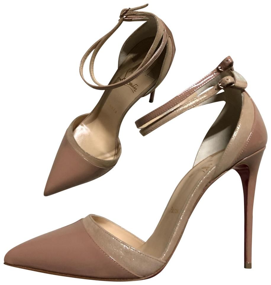 a2ab87166061 Christian Louboutin Nude Uptown Double 100 Heels Pumps Size EU 40 ...
