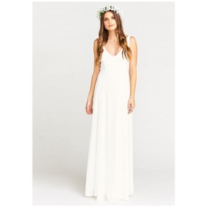 ivory sheen Maxi Dress by Show Me Your Mumu