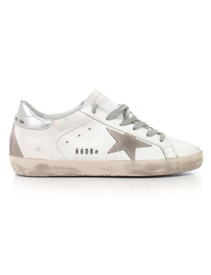 1b91e8bd120d Golden Goose Deluxe Brand White Silver Metal Lettering Superstar Sneakers  Sneakers. Size  EU 40 (Approx. US 10) ...