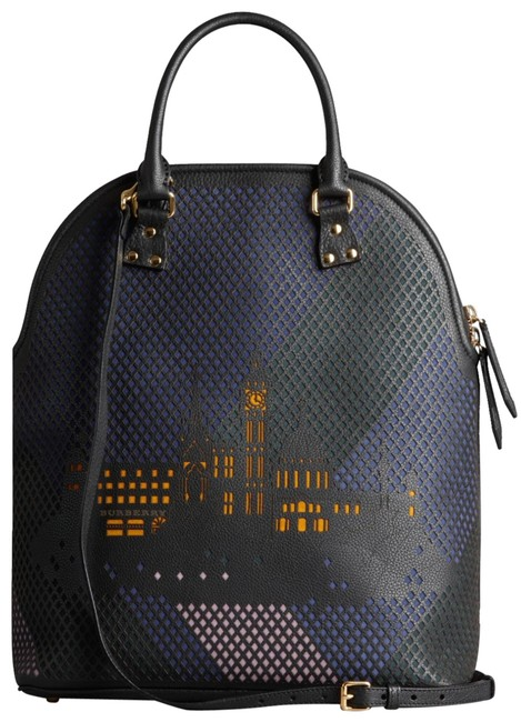 Item - Bloomsbury The Medium with London City Motif 2way Dome 1bue0110 Blue Leather Backpack