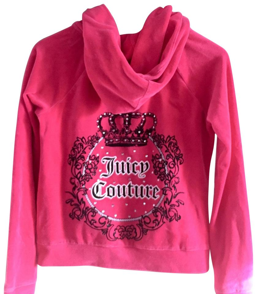 5baa24033eed Juicy Couture Pink Velour Stud Large Sweatshirt Hoodie Size 12 (L ...