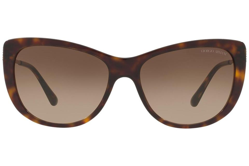c31264f35d3 Giorgio Armani Dark Havana Frame   Brown Gradient Lens Ar8078 502613 Cat  Eye Style Women s Sunglasses - Tradesy