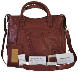 Balenciaga Satchel in Rouge Cerise Red