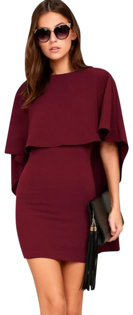 Item - Burgundy Best Is Yet To Come Style 239770 Short Cocktail Dress Size 10 (M)