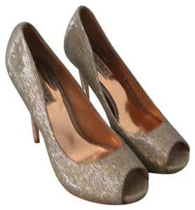 Badgley Mischka glitter Platforms
