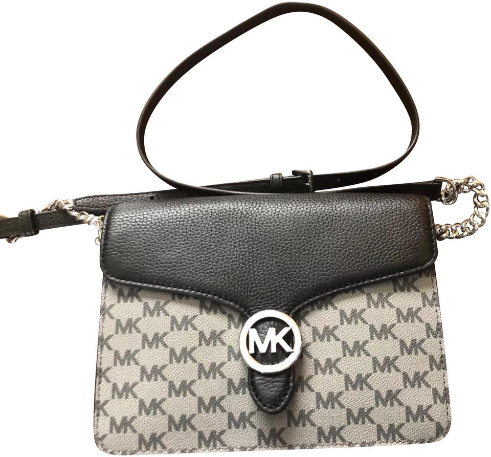 803313c0e3ade7 Michael Kors New Flap Gray Saffiano Leather Cross Body Bag - Tradesy