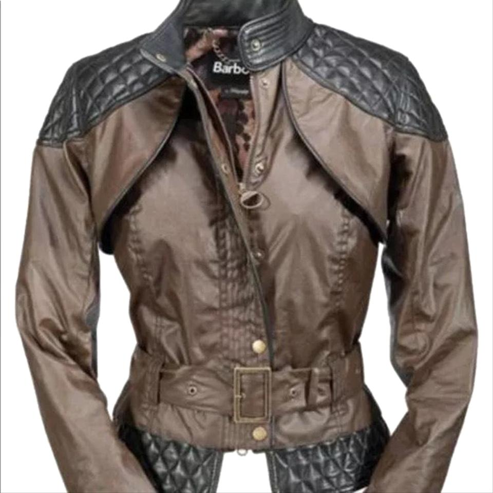 9252a0771ce Barbour Brown and Black Collaboration with Temperley Alice Somerset Waxy  Jacket