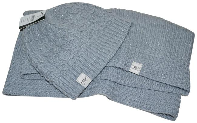 Item - Heather Grey Knit Beanie and Snood Set Glittering Hat