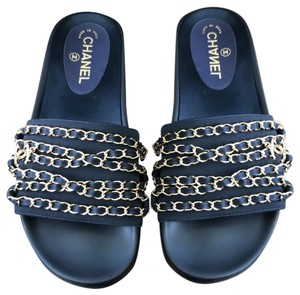 1767bf01a327 Blue Chanel Sandals - Up to 90% off at Tradesy