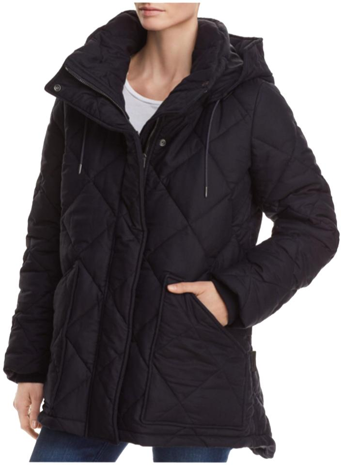 4666317bc6a Burberry Ink Blue Women's Blakeshall Quilted Jacket Small Coat Size ...