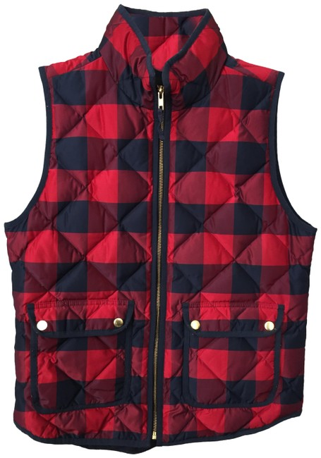 Item - Blue and Red Excursion Buffalo Vest Size 4 (S)
