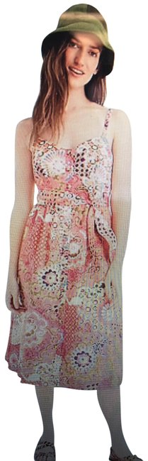Item - Multi-color Classic Button-front Sundress In Cotton Poplin Paisley Mid-length Casual Maxi Dress Size 8 (M)