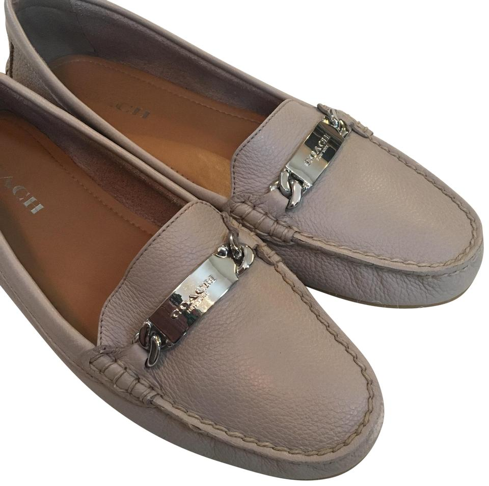 b94d0ca942a Coach Tan Pebble Leather  olive  Style Loafer Flats Size US 9.5 ...