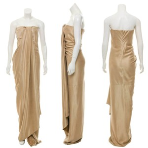 KAUFMANFRANCO Couture Silk Draped Dress