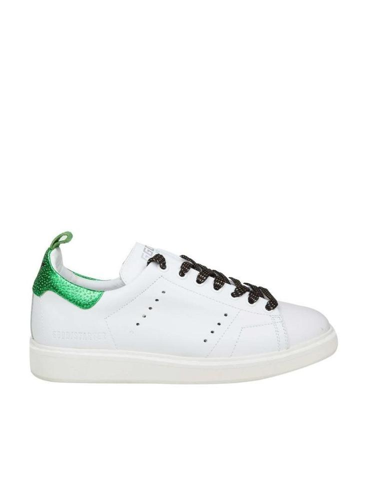 25c7544916 Golden Goose Deluxe Brand White Sneakers Starter In Leather with Laminated  Leather Sneakers Size EU 37 (Approx. US 7) Regular (M, B)