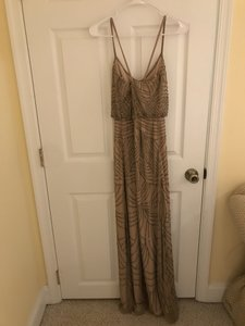 Taupe Beads 091891180 Sexy Bridesmaid/Mob Dress Size 0 (XS)