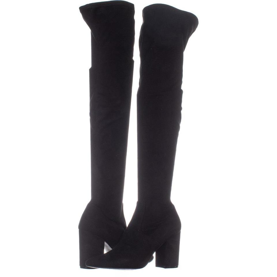 aa3b47e4b68 Steve Madden Black Rational Pointed Toe Over The Knee 413 Boots ...