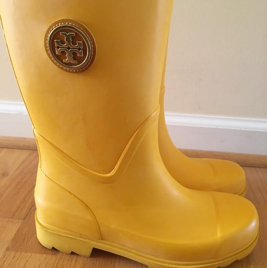 Tory Burch Yellow Boots Image 3