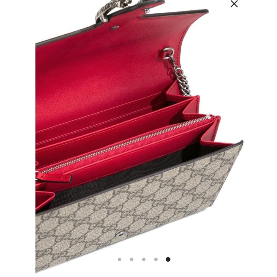 96f509b680a Gucci Silver Hardware Chain Tiger Dionysus Chain Wallet Shoulder Bag Image  8. 123456789
