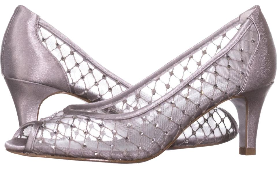 0807a35b1a5c Adrianna Papell Silver Jamie Peep Toe Mesh Caged 501 Pumps Size US 6 ...