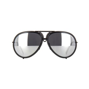 fb924f8ae48 PORSCHE DESIGN Black and Silver P8613-a Aviator with Interchangeable ...