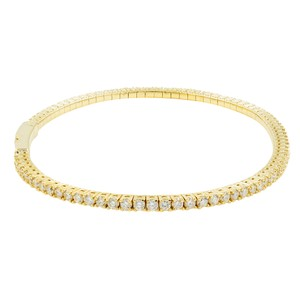 Gavriel's Jewelry 14K Gold Diamond Tennis Bangle Bracelet 1.65 cttw