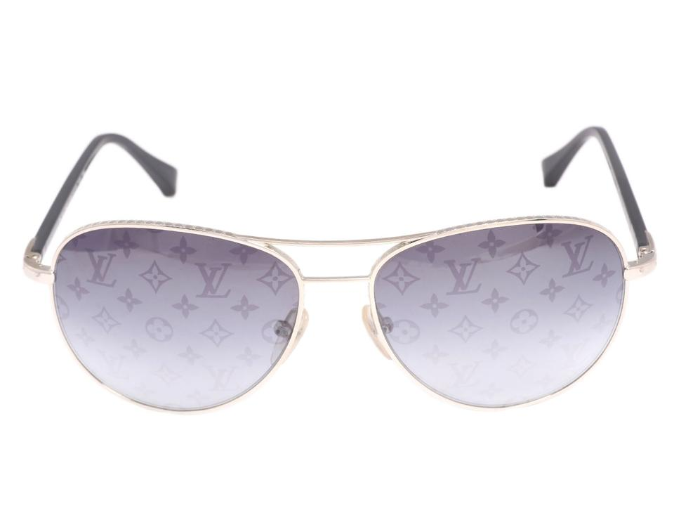 1c8fc65e3e05 Louis Vuitton Gray Conspiration Pilote Aviator Sunglasses - Tradesy