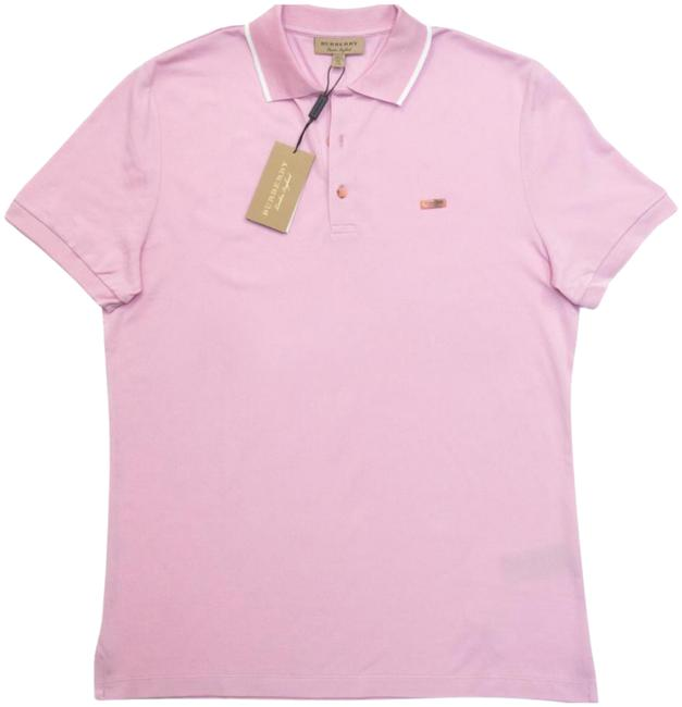 Item - Light Pink Men's Adley Tipped Collar Polo Tee Shirt Button-down Top Size 24 (Plus 2x)