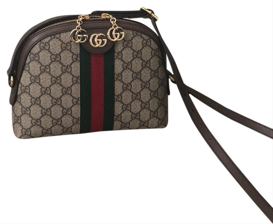 b11f09e8189 Gucci Linea Monogram Dragoni Gg Supreme Small Brown Canvas Cross ...