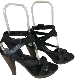 Lanvin Strappy Brown/Black Sandals