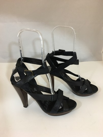 Lanvin Strappy Brown/Black Sandals Image 1