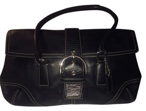 Coach Almost New Leather Satchel in Black